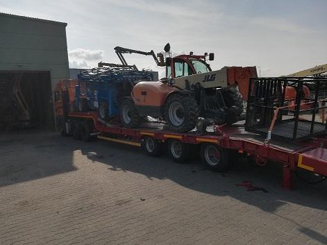 Transport maszyn budowlanych rolniczych przemysłowych koparek Poznań