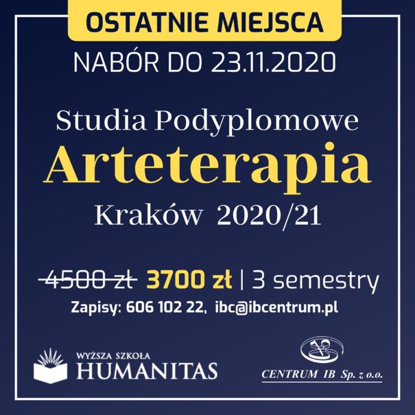 Arteterapia - studia podyplomowe 2020/21