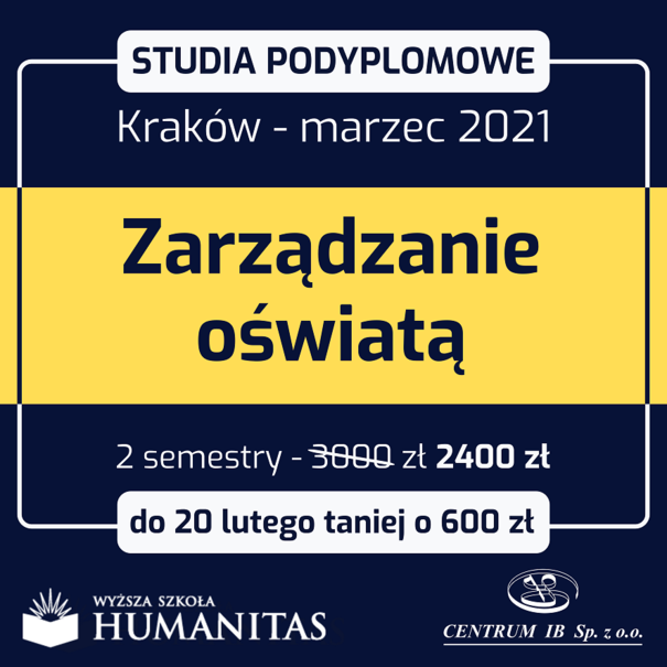 Studia podyplomowe - Kraków (marzec 2021)