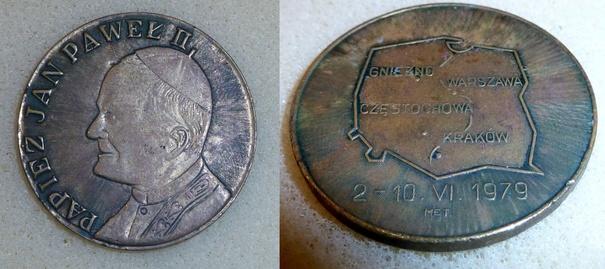 Medal Jan Paweł II wizyta 2-10 -VI-1979r