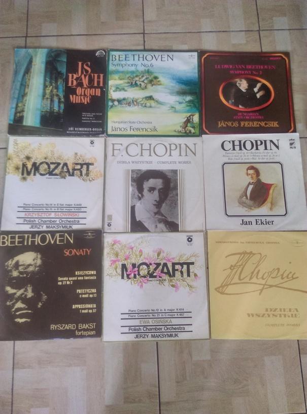 Sprzedam płyty winylowe. Jan Sebastian Bach, F. Chopin itp.