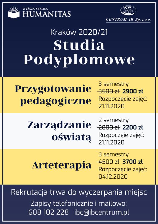 Studia podyplomowe 2020/21